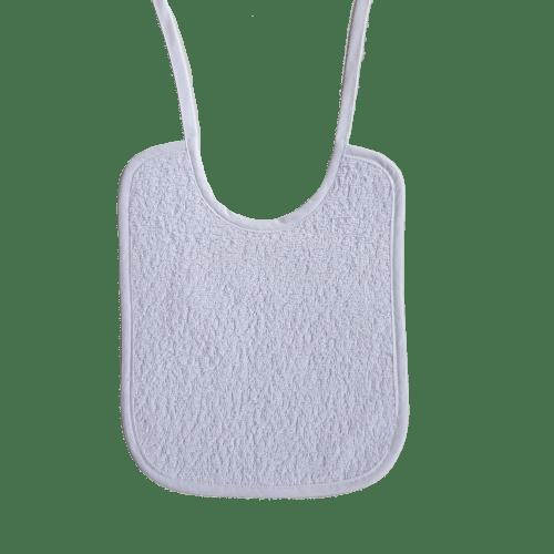 bavoir lacet éponge blanche