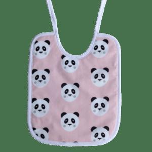 bavoir lacet panda rose