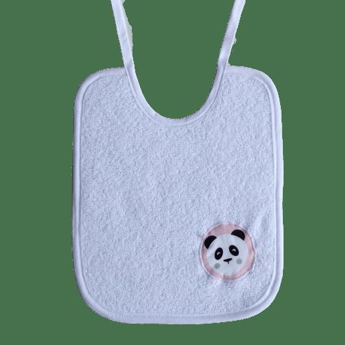 bavoir panda rose